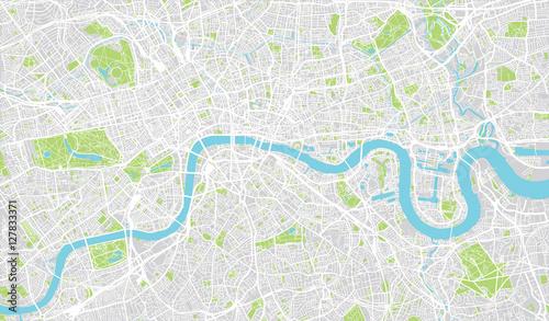 Fototapeta premium Miejska mapa miasta Londyn, Anglia