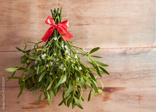 Stampa su Tela Broom from green mistletoe