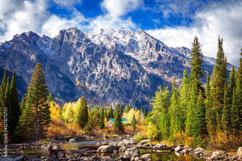 Fotografie, Obraz Cottonwood Creek Grand Teton National Park
