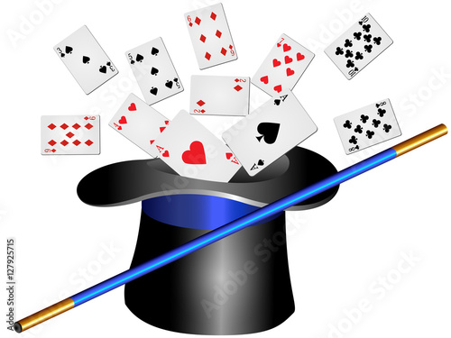 Tableau sur Toile カードマジック(背景なし)