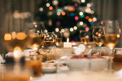 Fotografía Christmas dinner feast