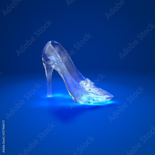 Fotografiet Cinderella crystal slipper