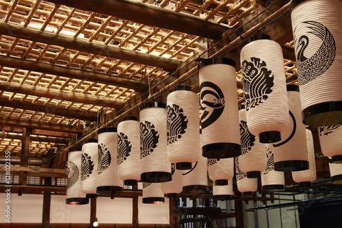 Stampa su Tela Lanterns design at one of the oldest Kabuki theater in Japan