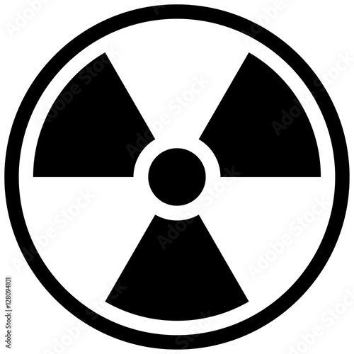 Carta da parati The illustration represents the symbol of radiation, product sign and radioactive debris