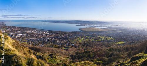 Fotografie, Obraz panoramic belfast bay view from cavehill Northern Ireland