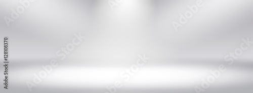 Leinwand Poster Simple white wide screen gradients light Blurred Background,Easy to make beauty