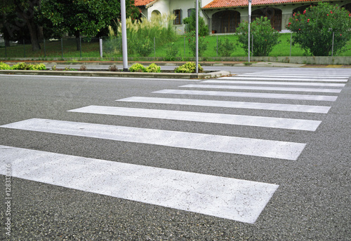 Tablou Canvas View of empty crosswalk