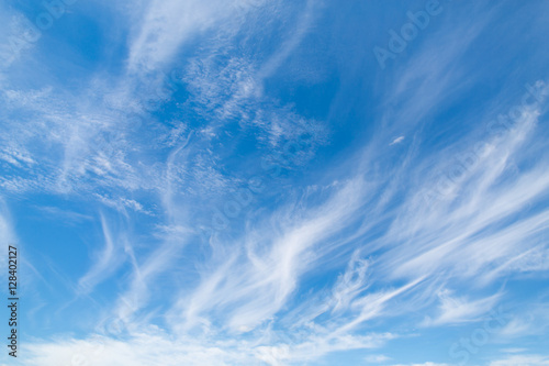 amazing blue sky with stains of clouds Fototapeta