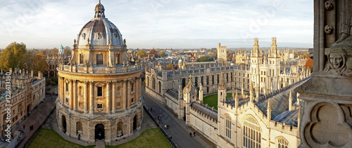 Stampa su Tela Radcliffe Camera and All Souls College, Oxford University, Oxford, UK
