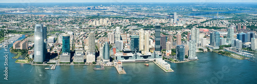 Fototapeta High resolution panoramic view of Jersey City and the Hudson River