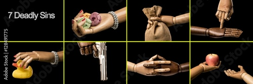 Fotografie, Obraz Seven deadly sins
