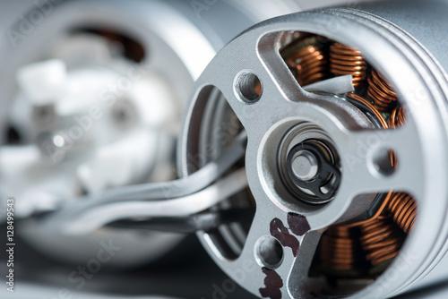 Fototapeta Close up of connected motor armature