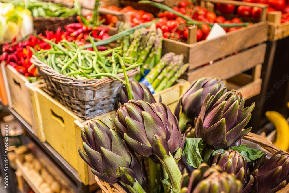 Karczochy Rynek owoce warzywa