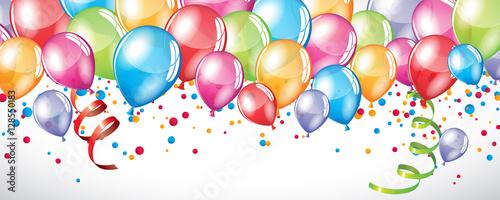 Foto Festive Balloons background