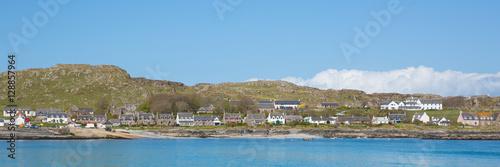 Obraz na plátne Scottish island of Iona Scotland uk Inner Hebrides off the Isle of Mull panorami