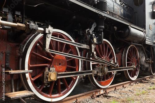 Stampa su Tela Part of vintage steam train