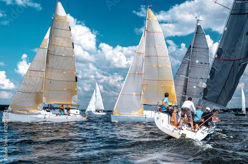 Fotografie, Obraz Sailing yacht race, regatta