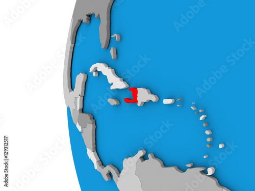 Haiti on globe Fototapet