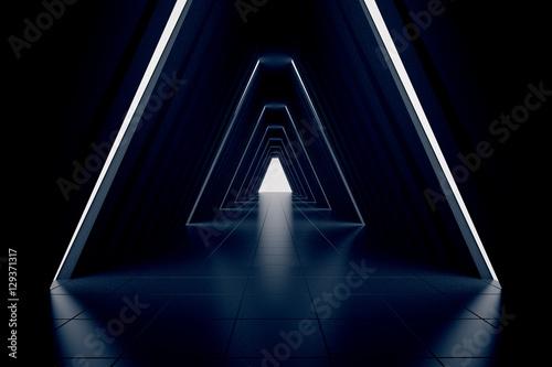Photo Dark corridor interior