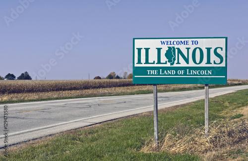 Carta da parati Welcome to Illinois
