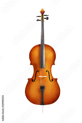 Fotografía cello isolated on white