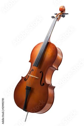 cello isolated on wihte Fototapeta