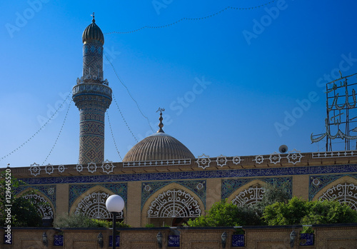 Exterior view of Abu Hanifa Mosque in Baghdad, Iraq
