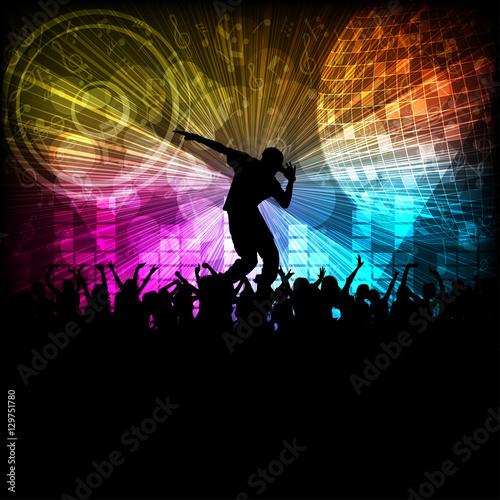 Obraz na płótnie Hip-hop Dancer And the Night Club, Moonwalk