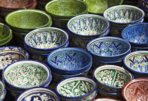 Photographie Vaisselle en céramique, Ouzbékistan