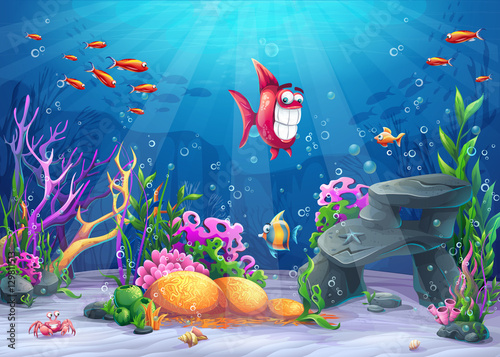 Photo Undersea with funny fish
