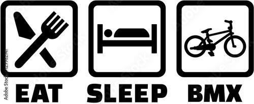 Valokuva BMX - Eat sleep icons