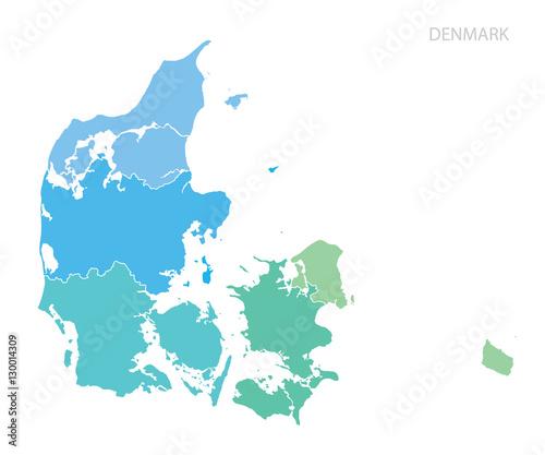 Photo Map of Denmark.