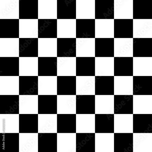 Obraz na płótnie Checker Pattern Black and White