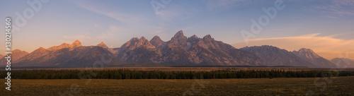 Photo Grand Teton Mountain Range Panorama