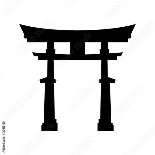 Fototapeta Japanese pagoda temple icon vector illustration graphic design