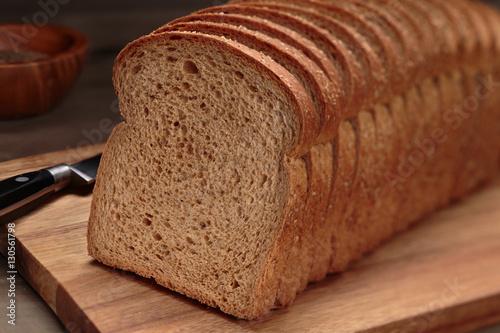 Vászonkép Fresh sliced bread