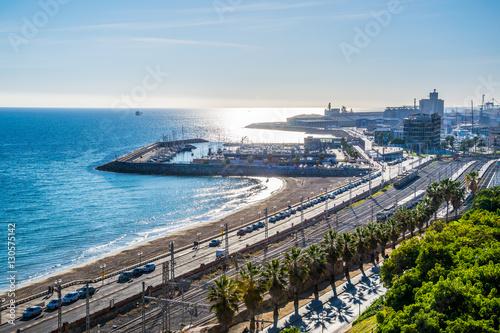 View of the coast of Tarragona