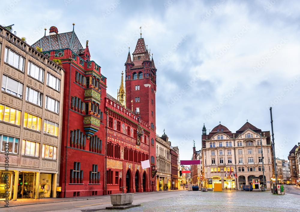 Rathaus, Basel Town Hall - Szwajcaria <span>plik: #130643371 | autor: Leonid Andronov</span>
