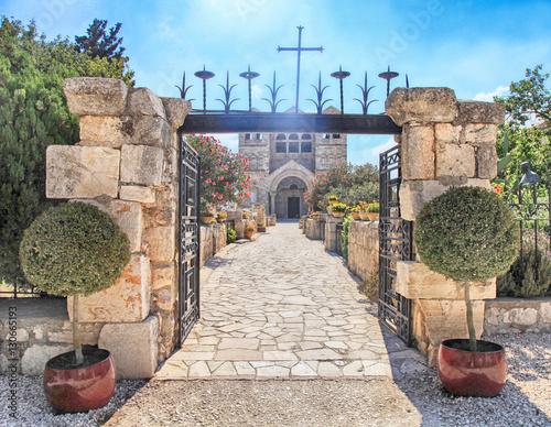 Vászonkép Basilica of the Transfiguration, Mount Tabor, Galilee, Israel