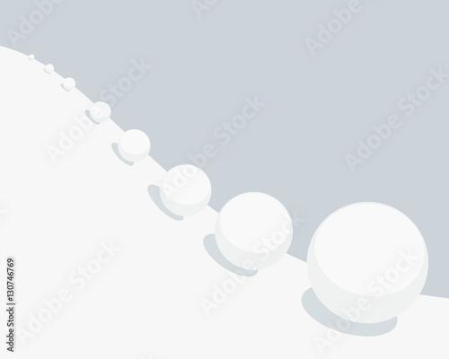 Canvas Print Snowball effect