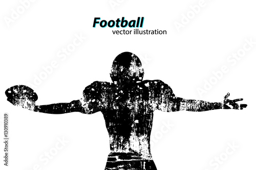 Wallpaper Mural silhouette of a football player. Rugby. American footballer