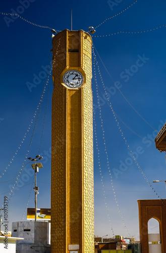 Clocktower of Abu Hanifa Mosque the in Baghdad, Iraq