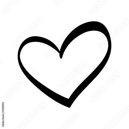 Fotografie, Tablou Cute decorative heart icon vector illustration graphic design