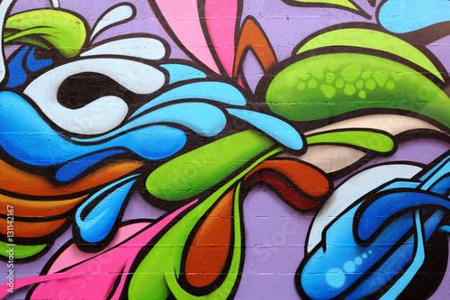 Fototapeta premium Kolorowa sztuka graffiti