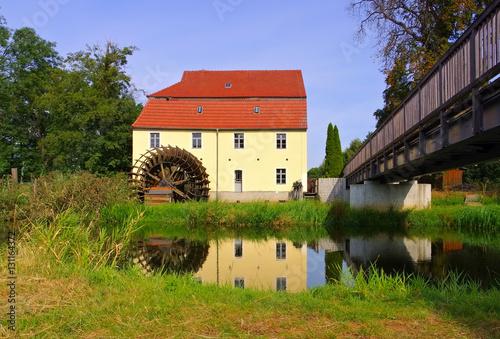 Plessa Elstermuehle - the old  watermill in Plessa, Lusatia