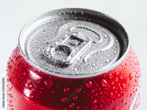 Fotografie, Obraz Close-up cold aluminum drink can
