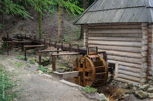 Old water mill in Ukrainian village