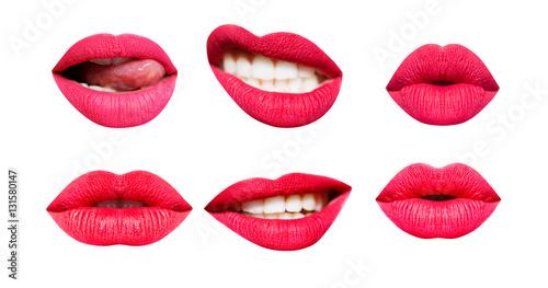 Woman's lip set Fototapeta