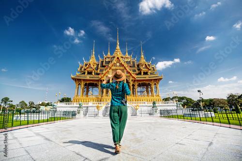 Canvas Print Tourist in the Bangkok