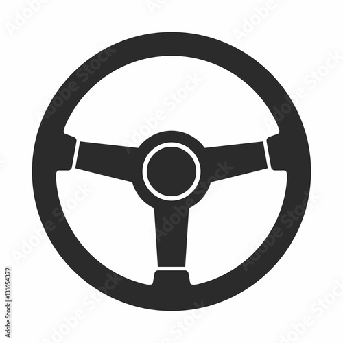 Fotografie, Tablou Steering wheel icon